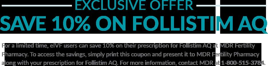 Exclusive 10% off offer for FOLLISTIM AQ